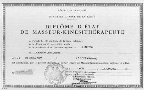 Diplome de l'état